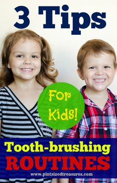 3 Tips to get your kiddos keeping their teeth happy and clean! What keeps your kids happy during tooth-brushing?