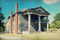 Plantation abandoned home rural decay birmingham alabama south southern texture green grey gray blue red brick wood victorian