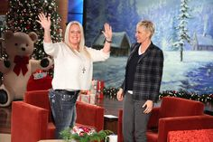 Mom-of-the-year Stephanie Decker was here, walking, standing, and dancing with Ellen!