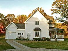 perfect white farmhouse