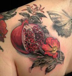 pomegranate tattoo, tattoos, tattoo inspir