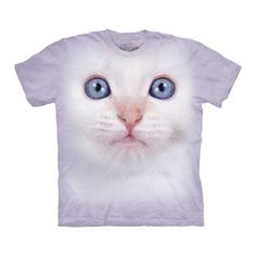 White Kitten Face Tee Adult now featured on Fab.