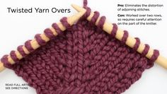 Twisted Yarn Over- a very nice increase stitch