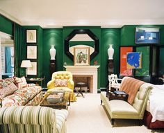 Decorating with Emerald Green--September's color of the month