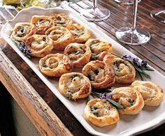Easy Roquefort Pinwheels - Pinwheel Recipe - House Beautiful