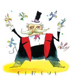 pájaros para el mago, ilustración de Francis Blake
