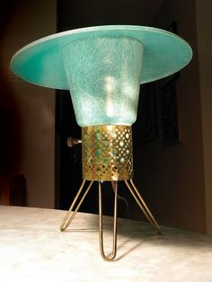tiny atomic age lamp by Mad Modern, via Flickr