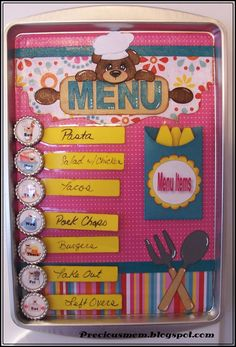 Craft idea Magnetic Menu Board