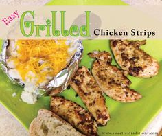 Grilled Chicken Strips with sweetteatraditions