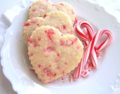Peppermint Shortbread Cookies.