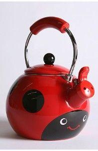 Ladybug tea kettle