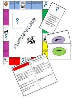 Jeux mathématique en PDF gratuits Genre Monopoly apprendre par le jeu c'est toujours gagnant !
