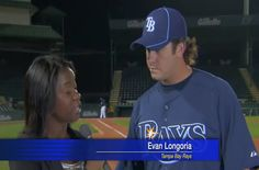 Evan Longoria saves reporter with bare hand catch.