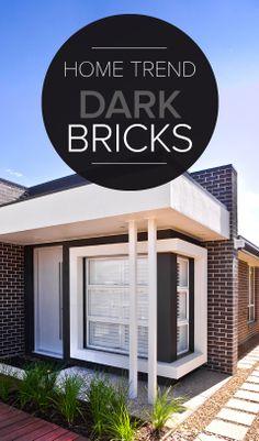 Dark Bricks Create a Statement Home Exterior #darkbrick #homedesign