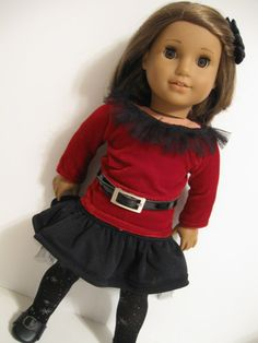 American Girl Doll Holiday Collection Red by 123MULBERRYSTREET