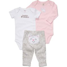 daddi princess, carter, babi cloth, baby girls, babi girl, babies clothes, bodysuit pant, kitti, kitty