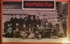 Feud between the Hayfields and McCoys  (Hatfield Name Tag) First We draw a name tag out to decide what clan you'll be on for the day {Hatfield or McCoy} then we play games...horseshoes, washers, darts, seed spitting, giant slingshot etc.  The clan with the most points at the end if the day has won the feud!