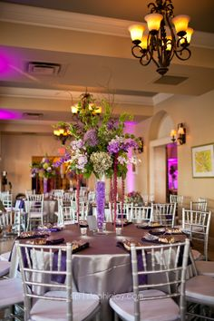 purple silver wedding table decor Parramore Wedding | Florida Lifestyle Wedding Photographer » Stephie Joy Photography : Jacksonville and St. Augustine Florida Wedding and Li...