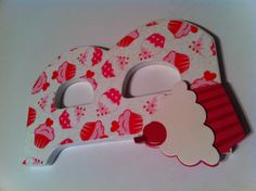 Wooden letter with scrapbook paper & glitter mod podge