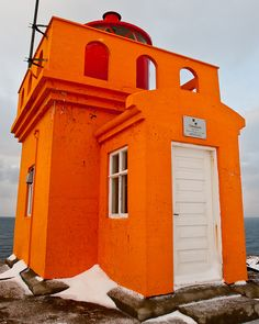 iceland, orang, lighthouses, color, osholav lighthouseclos