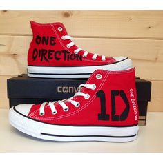 One Direction Hi-Top Converse ($110) ❤ liked on Polyvore