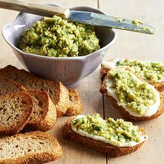 Edamame and Ricotta Toasts From Better Homes and Gardens, ideas and improvement projects for your home and garden plus recipes and entertaining ideas.