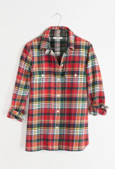 Madewell Ex-Boyfriend flannel shirt.