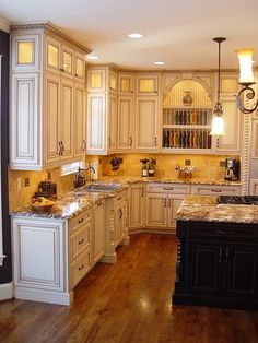 Beautiful kitchen....love these cabinets! [ CLICK HERE! ] Barndoorhardware.com | #kitchen #hardware #specialty #custom