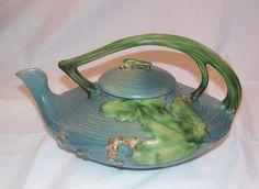 Roseville teapot