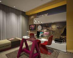 Home Office+ armário rouparia+hóspede+saleta de tv