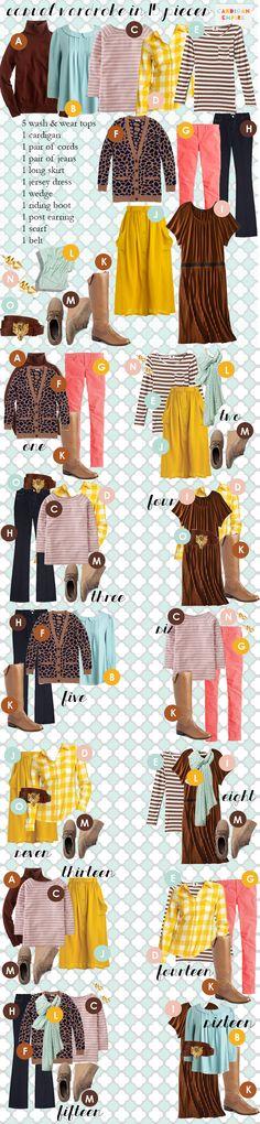 Cute cute cute cute CUTE! Capsule wardrobe :)