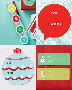 A bonanza of free printable holiday labels | How About Orange