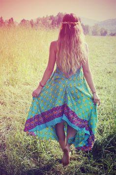 Long Hippie Dress,