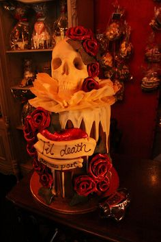 Skull wedding cake