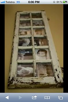 Great way to recycle an old window or door, I have a door ready to go... Just need to find the motivation :/ lol