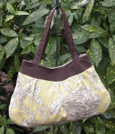 Citrine green and brown toile Midge bag with by ellenadair