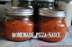 DIY Pizza Sauce: 30 Tomatoes, 2 Lrg minced Onions, 4 minced Garlic Cloves, 3 Tbsps. Olive Oil, 2 Tbsps. Lemon Juice, 1 tsp. Cracked Pepper, 1 Tbsp. Sugar, 2 Tbsps. chopped Parsley, 1 Tbsp. Oregano, 1 Tbsp. Basil, 1 tsp. Rosemary, 1 tsp. Celery Seed, 2 tsps. Salt, 1/2 tsp. Summer Savory