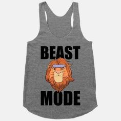 Simba The Lion King Beast Mode | 23 More Work Out Tanks To Not Work Out In
