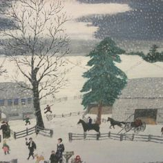"""Grandma Moses"" primitive american - at the Shelburne Museum"