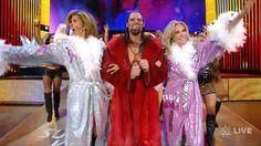 Watch KLG, Hoda crack wine bottles on their bums in WWE debut