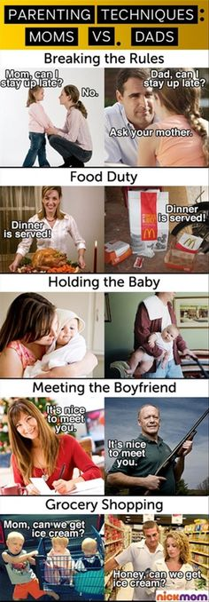 moms vs dads lol