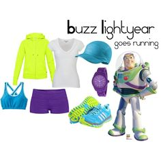 Buzz Lightyear running outfit!