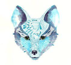 Blue Fox by Ola Liola (Teva Gallery)
