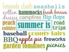 """Printable - """"Summer is"""""""
