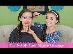The Not-My-Arms Makeup Challenge #brooklynandbailey #notmyarms #challenge #youtube #makeup