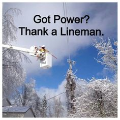 Be sure to thank a lineman today! truck oper, lineman today, lineman stuff, lineman wife, bridg, power lineman