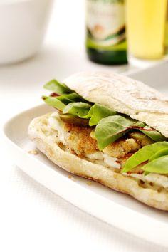 Holy Schnikes! A scrumptious schnitzel sandwich that is oh so scrumptious!!