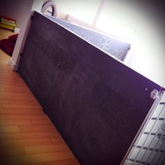 Chalkboards make a great babyproofing alternative for stair railings.