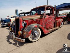 Old school rat rod pickup. rat rods, rat rod pickup, ratrod, hot rod, rats, shop truck
