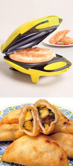 Yellow Nonstick Empanada Maker